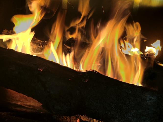 Fuego bajo Kiloterdi Txokoa Ellauri Hotela