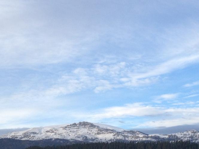 Nieve en el Gorbeia, Kiloterdi Txokoa Ellauri Hotela