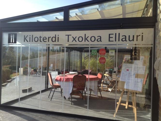 Terraza Gorbeia Kiloterdi Txokoa Ellauri