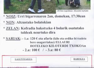 bolos 2016 ellauri hotela kiloterdi txokoa ellauri 2